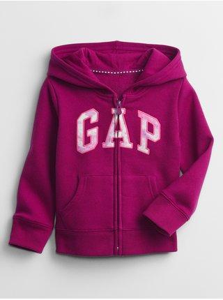 Fialová holčičí mikina na zip GAP Logo