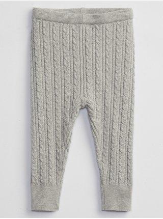 Šedé holčičí legíny pletené