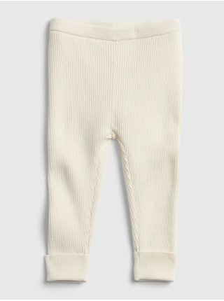 Smetanové holčičí legíny ribbed sweater legging
