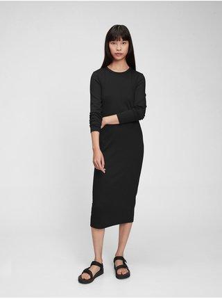 Černé dámské šaty modern midi dress