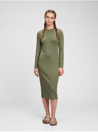 Zelené dámské šaty modern midi dress