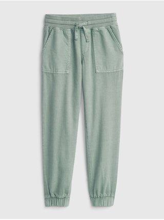 Zelené holčičí kalhoty woven jogger