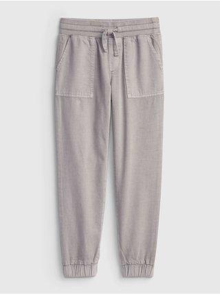 Šedé holčičí kalhoty woven jogger