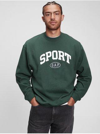 Zelená pánská mikina GAP Logo sport crew