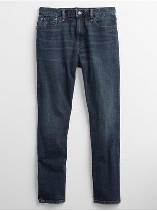 Modré pánské džíny straight taper menlo medium