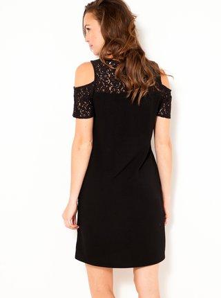 Černé šaty s krajkou CAMAIEU