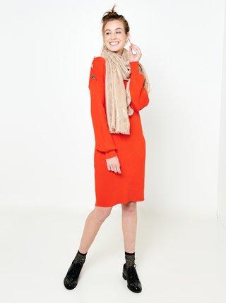 Šaty na denné nosenie pre ženy CAMAIEU - oranžová