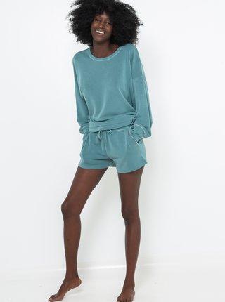 Modré pyžamové kraťasy CAMAIEU