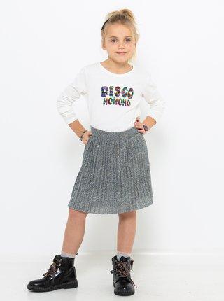 Biele dievčenské tričko s potlačou CAMAIEU