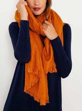Oranžová šála CAMAIEU