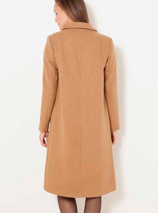 Béžový kabát s prímesou vlny CAMAIEU