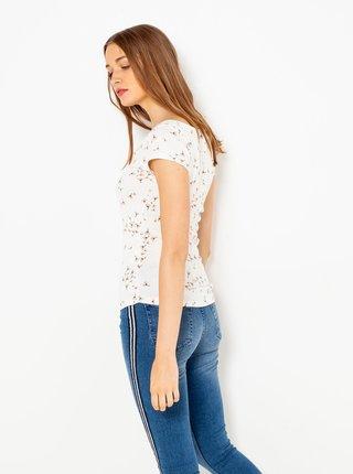 Bílé květované tričko CAMAIEU