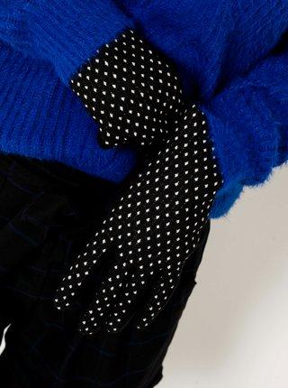 Černé puntíkované rukavice CAMAIEU