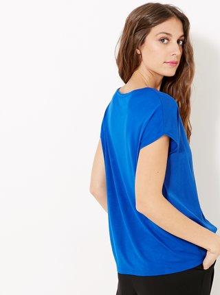 Modrá halenka s kapsou CAMAIEU
