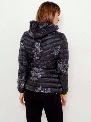 Čierna kvetovaná prešívaná bunda CAMAIEU