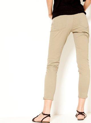 Béžové zkrácené skinny fit kalhoty CAMAIEU