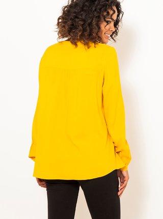 Žlutá halenka s ozdobnými detaily CAMAIEU