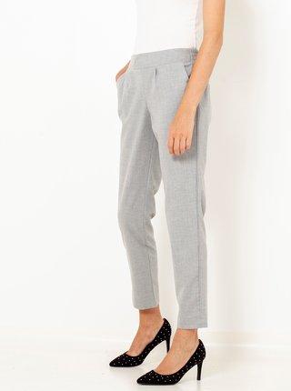 Svetlošedé skrátené straight fit nohavice CAMAIEU