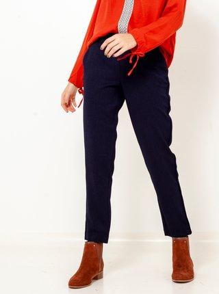 Tmavomodré skrátené straight fit nohavice CAMAIEU