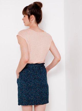 Tmavě modrá vzorovaná sukně CAMAIEU