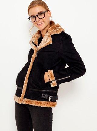 Černá bunda z umělého kožíšku CAMAIEU