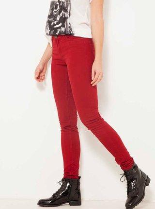 Červené slim fit kalhoty CAMAIEU