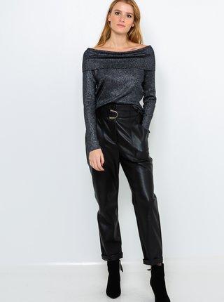 Tmavošedý metalický sveter CAMAIEU