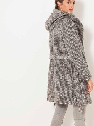 Šedý kabát s příměsí vlny CAMAIEU