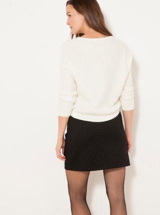 Biely sveter s prímesou mohéru CAMAIEU