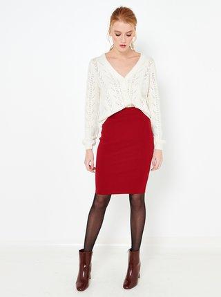 Červená pouzdrová sukně CAMAIEU
