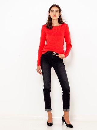 Červený svetr s příměsí vlny CAMAIEU