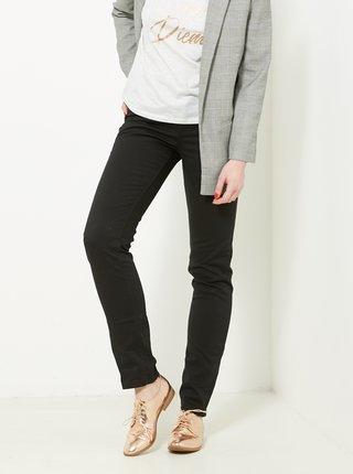 Černé regular fit kalhoty CAMAIEU