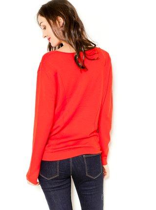 Červený svetr z Merino vlny CAMAIEU