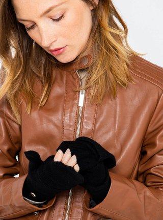 Černé rukavice s příměsí vlny CAMAIEU
