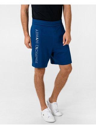 Kraťasy pre mužov Armani Exchange - modrá