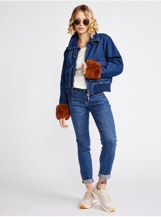 Rifľové bundy pre ženy Salsa Jeans - modrá