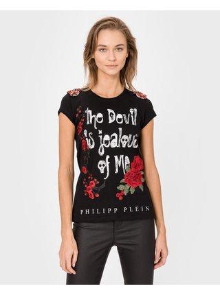 Tričká s krátkym rukávom pre ženy Philipp Plein - čierna