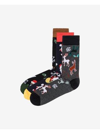 Funny Santa Ponožky 3 páry Jack & Jones
