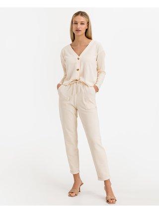 Nohavice pre ženy Tom Tailor Denim - béžová