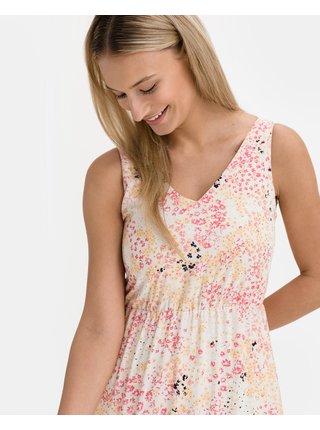 Voľnočasové šaty pre ženy VERO MODA - ružová, biela