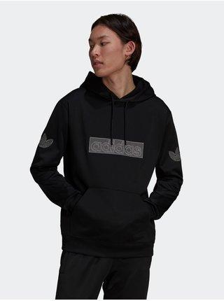 Mikiny s kapucou pre mužov adidas Originals - čierna