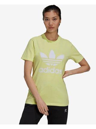 Tričká s krátkym rukávom pre ženy adidas Originals - žltá