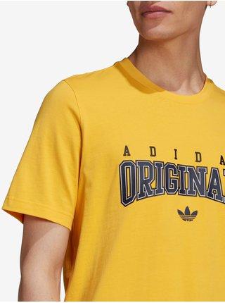 Tričká s krátkym rukávom pre mužov adidas Originals - žltá