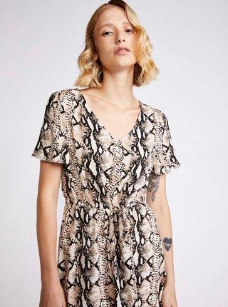 Šedé vzorované šaty VERO MODA Easy