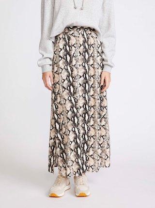 Šedá vzorovaná midi sukně VERO MODA Easy
