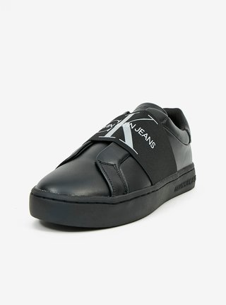Čierne dámske kožené tenisky Calvin Klein