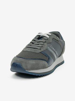 Modro-šedé pánské tenisky Calvin Klein