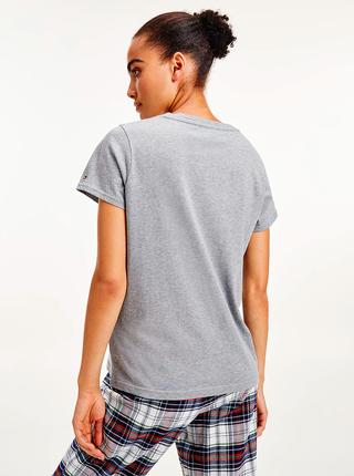 Šedé dámské tričko Tommy Hilfiger