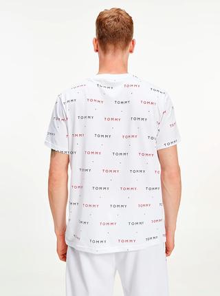 Bílé pánské vzorované tričko Tommy Hilfiger