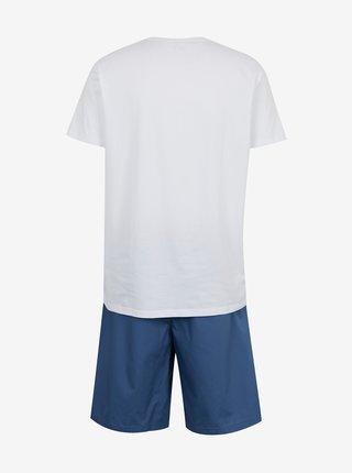 Modro-biele pánske pyžamo Tommy Hilfiger
